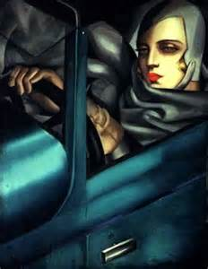 Tamara In The Green Bugatti Tamara De Lempicka Tamara In The Green Bugatti 1925