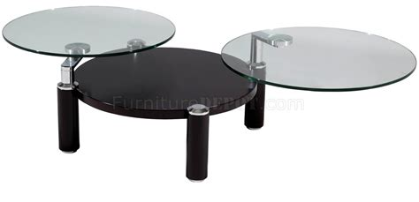 8174 clear glass top motion cocktail table by chintaly