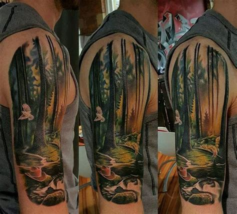 nature quarter sleeve tattoo 75 tree sleeve tattoo designs for men ink ideas with