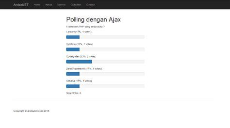 membuat form input dengan php jquery membuat polling menggunakan ajax jquery dan php