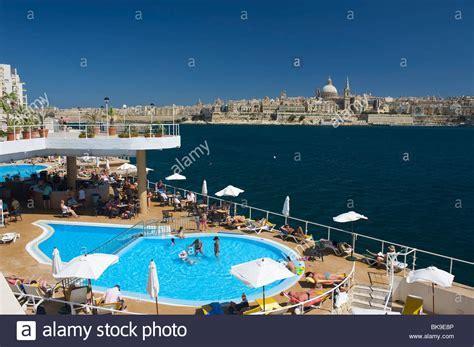 Europa Hotel Sliema Malta Europe view from a hotel pool in sliema on valletta malta