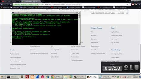 tutorial python 2 7 tutorial python instalar python 2 7 windows youtube