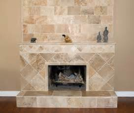 travertine fireplace house