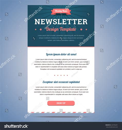 Design Newsletter Header | newsletter design template for weekly company news with