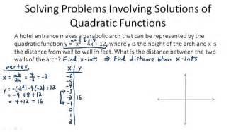 using quadratic equations to solve problems ck 12 foundation