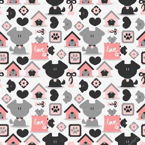 hotdog pattern cute naadloze patroon met schattige honden stockvector