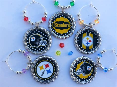 party supplies 2 pittsburgh steelers theme gift wine