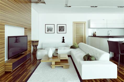 White Modern Living Room by White Living Room Decosee