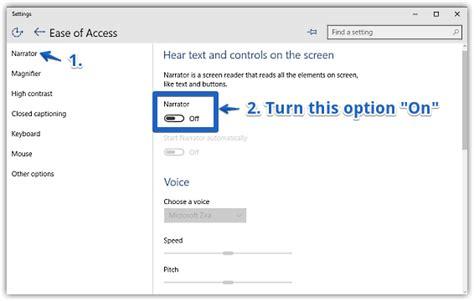 windows 10 narrator tutorial how to turn on narrator in windows 10