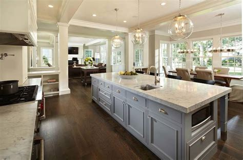 long kitchen islands transitional kitchen murphy