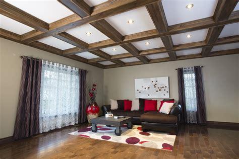 Fausses Poutres Pour Plafond by Revōdeco Plafond 224 Caissons En Pin Noueux Avec Fausses