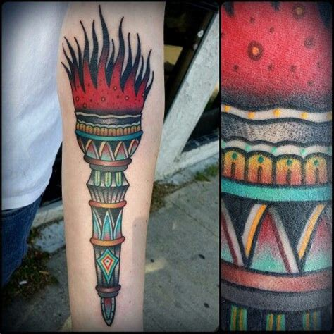 traditional torch tattoo traditional and cas on