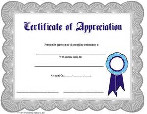Free Printable Certificate Of Appreciation Templates by Search Results For Certificate Of Appreciation Printable