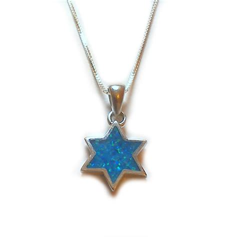 blue opal necklace israel depot buy jewish jewelry israeli t shirts