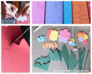 bricolage avec du papier mousse des fleurs pour les