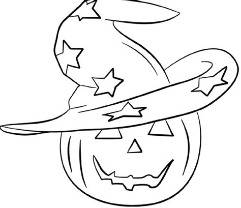cartoon pumpkin coloring pages head pumpkin and witch hat coloring pages halloween