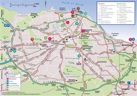 map of areas in edinburgh area map