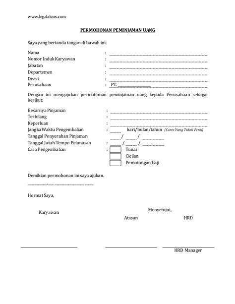 contoh surat permohonan pinjam uang the knownledge