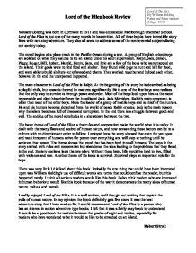 book report on lord of the flies lord of the flies book review gcse english marked by lord of the flies book report essay