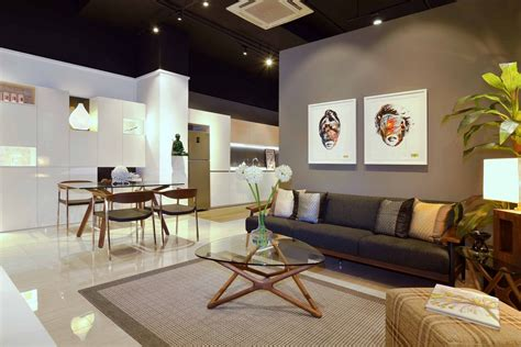contemporary decorating style residential interior showroom evoking an urban truly feel