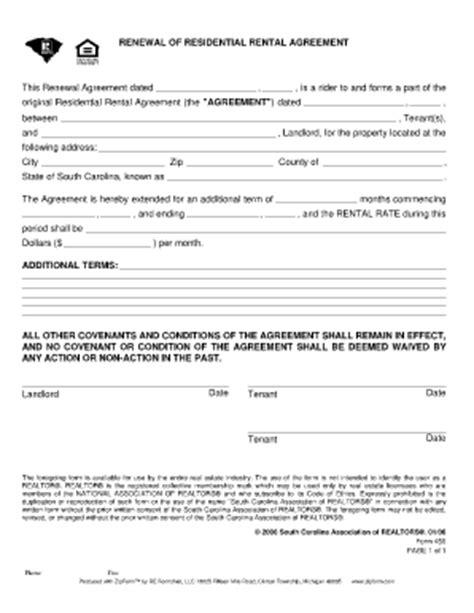 Lease Extension Deposit Bill Of Sale Form South Carolina Standard Residential