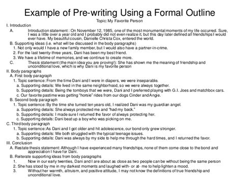 prewriting outline template the writing process phases of writing