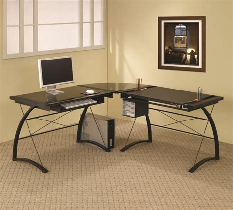 black home office desks modern corner computer desk design ideas for home office