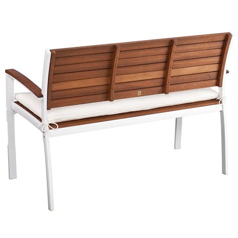 modern white outdoor bench medina modern white outdoor bench eurway furniture