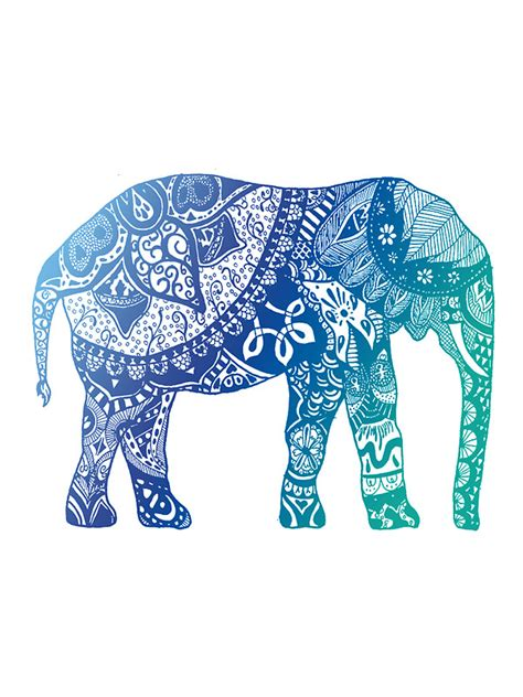 Tropical Home Decor Fabric quot blue elephant quot stickers by adjsr redbubble