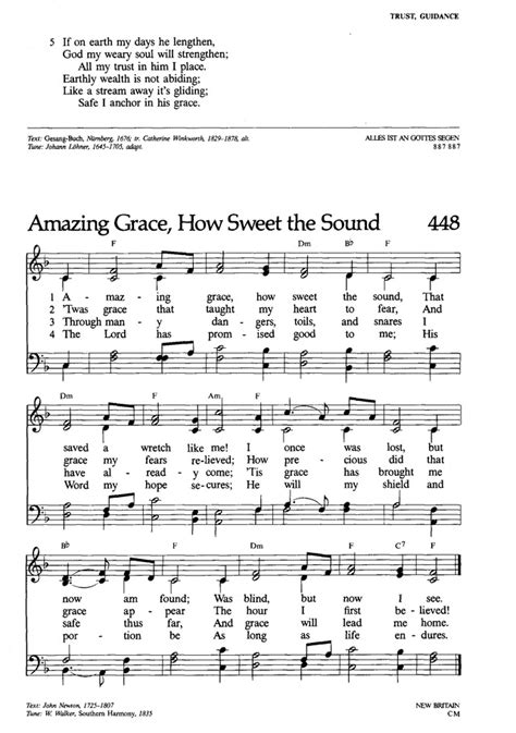 Lutheran Book of Worship 448. Amazing grace, how sweet the