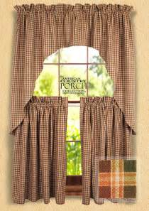 Country Swag Curtains New Plaid Window Curtain Swags
