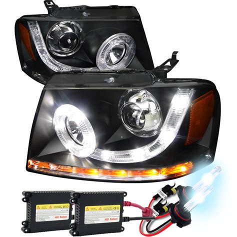 ford f150 hid headlights hid xenon 2004 2008 ford f150 led drl halo projector