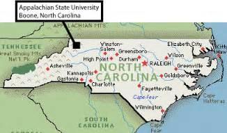 carolina mountain map map