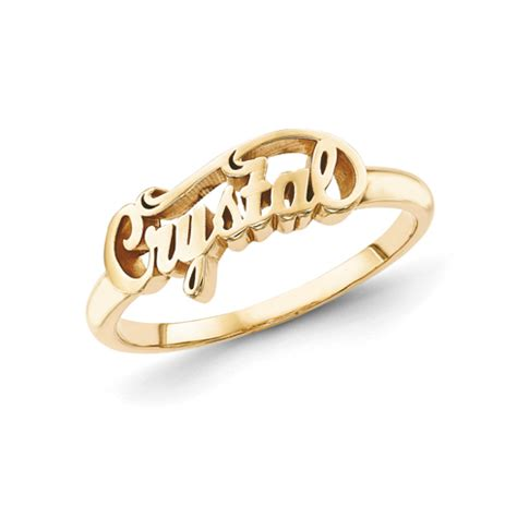 Lettering Ring gold plated sterling silver script letters fancy name ring