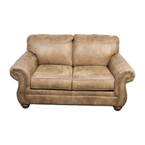 faux leather loveseat 57 off signature design by ashley signature design by