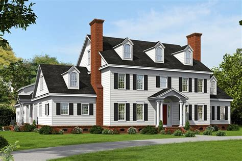 Narrow Cottage Plans colonial plan 6 858 square feet 6 bedrooms 4 5