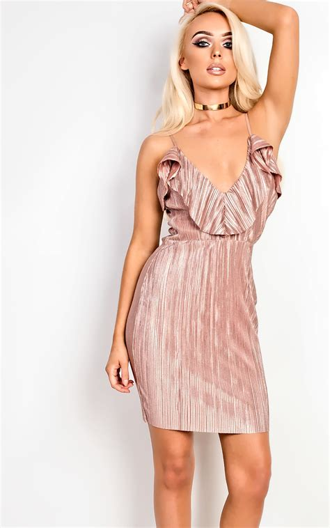 On Dresses Shiny Stunners by S Stunning Glam Ribbed Metallic Dress
