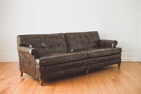 henredon leather sofa henredon leather sofa pair of frank lloyd wright for