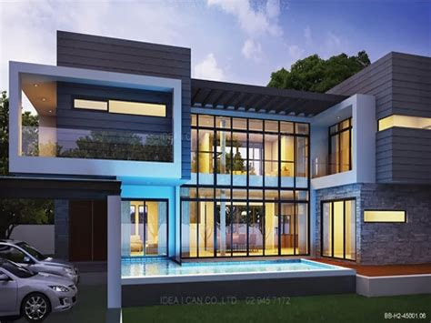modern two story house residential 2 storey house plan modern 2 story house plans
