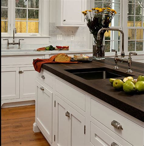 wenge wood kitchen countertop with sink by grothouse