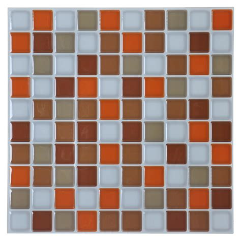 Set Tile Stick Hime self adhesive kitchen backsplash tile 12 x 12 set of 6