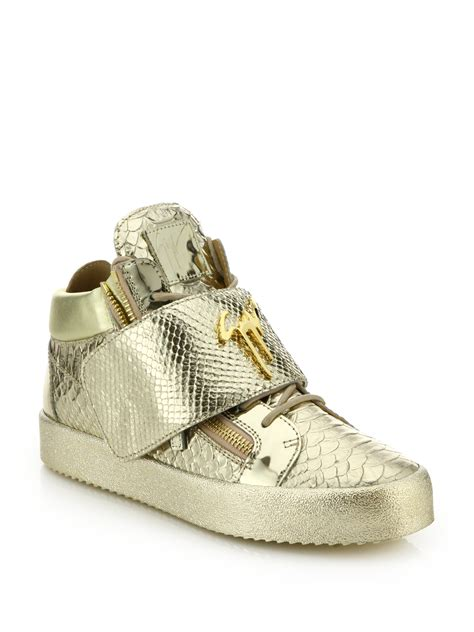 giuseppe shoes giuseppe zanotti snake print grip low top sneakers in