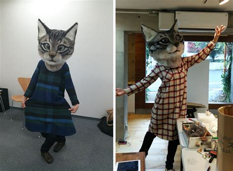 giant realistic wool cat head   cute  terrifying