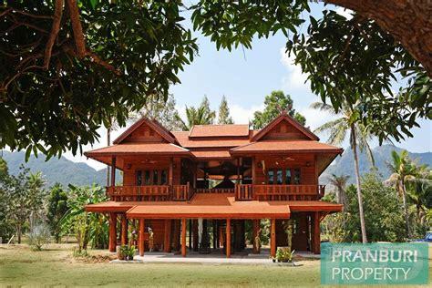 thailand house for sale teak house for sale on 5rai nr beach central coast hua