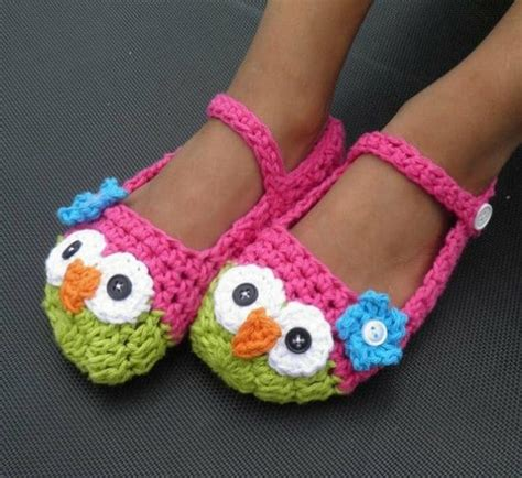 owl slippers crochet owl slippers are the cutest the whoot