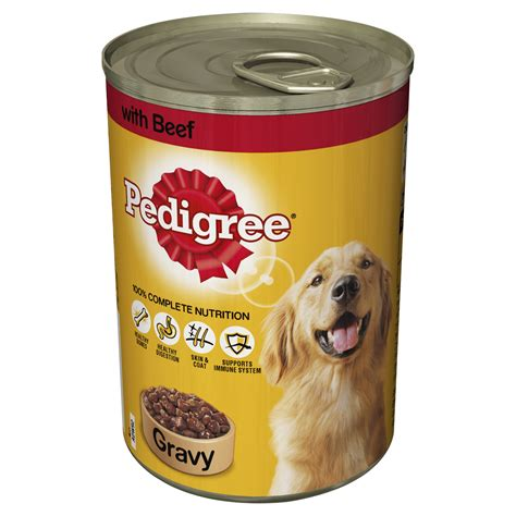 beef dogs pedigree beef in gravy food cans