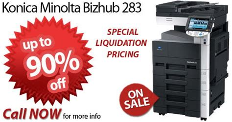 Mesin Fotocopy Konica Minolta Bizhub 283 konica minolta bizhub 283 for sale at low price