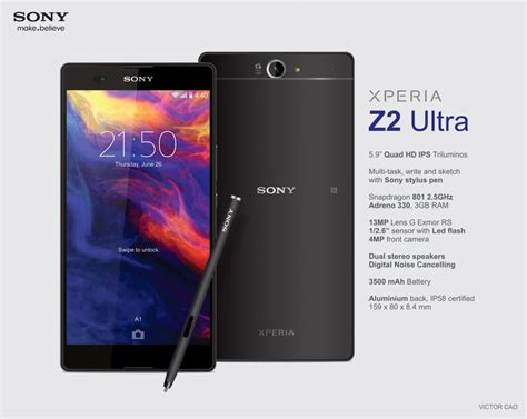 Hp Sony Xperia Z2 Ultra victor cao concept phones