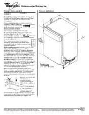 Dishwasher Height Guide Instalation Guide For Whirlpool Gold Series 24 Tub