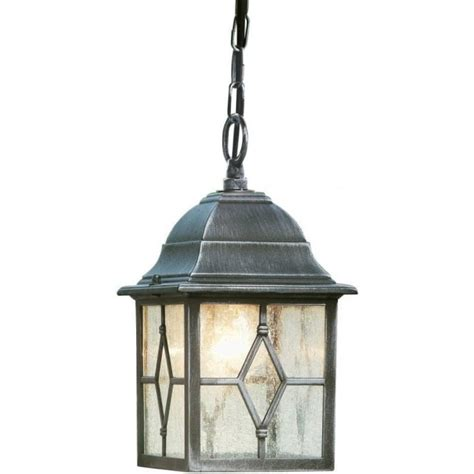 Black Lantern Ceiling Light Genoa Ceiling Pendant Searchlight 1641 Outdoor Lantern